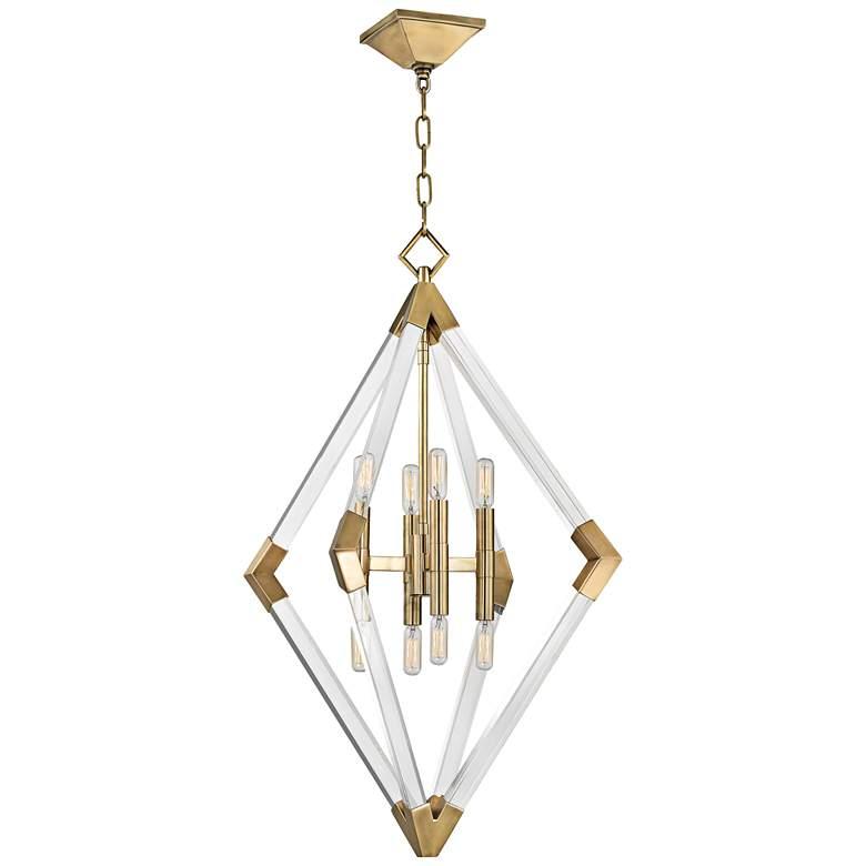 "Hudson Valley Lyons 23 1/2"" Wide Aged Brass Pendant Light"