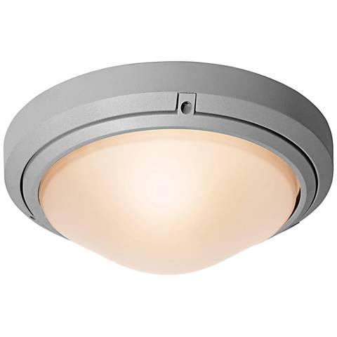 "Oceanus 12"" Wide Satin LED Outdoor Ceiling Light"
