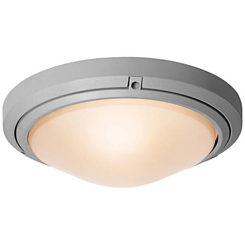 "Oceanus 15 3/4"" Wide Satin LED Outdoor Ceiling Light"