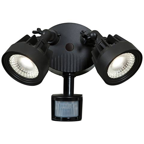 "Guardian 10"" High LED Black Outdoor Spotlight"