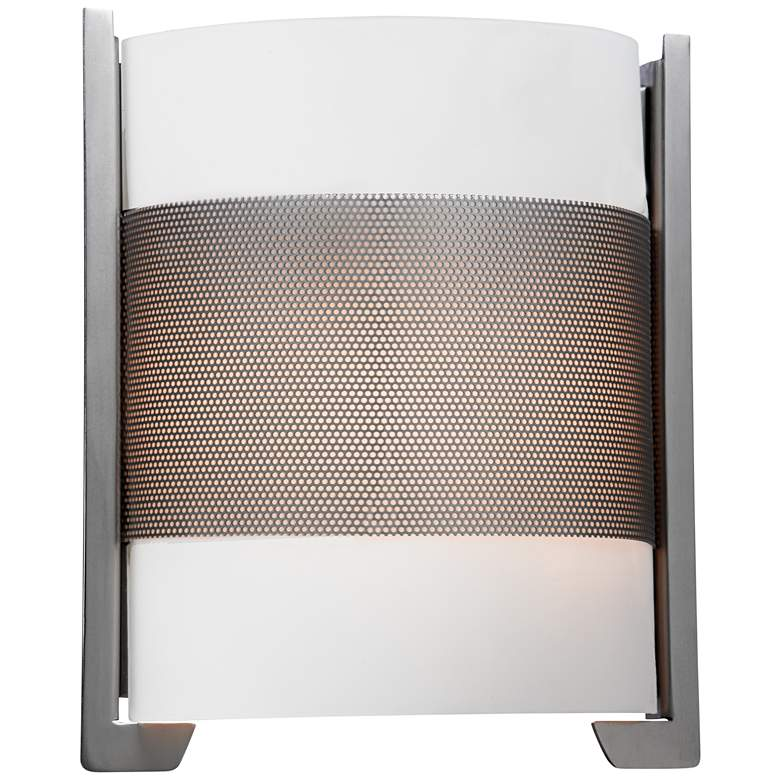 """Iron 11 3/4"""" High Brushed Steel LED Wall Sconce"""