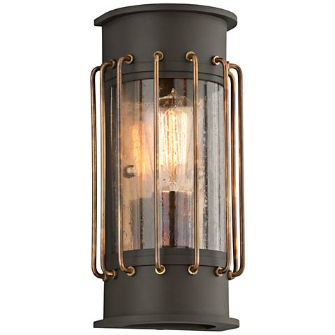 "Cabot 12""H Bronze and Historic Brass Outdoor Wall Light"