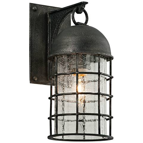 "Charlemagne 13"" High Aged Pewter Outdoor Wall Light"
