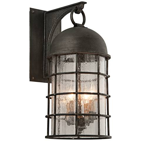 "Charlemagne 23 1/2"" High Aged Pewter Outdoor Wall Light"