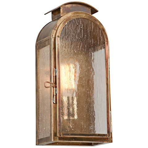 """Copley Square 13 1/4""""H Historic Brass Outdoor Wall Light"""