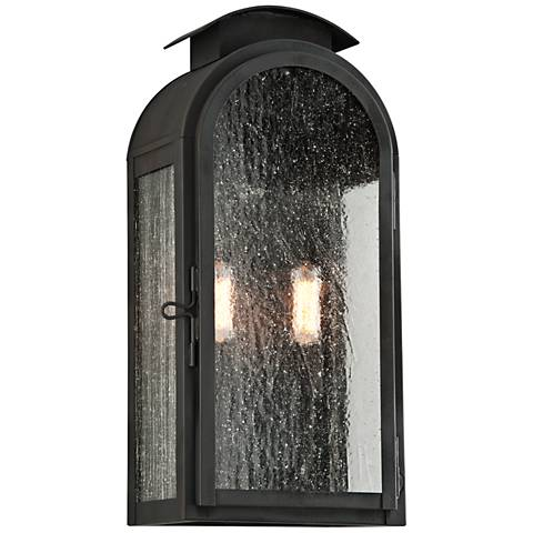 """Copley Square 17 3/4"""" High Charred Iron Outdoor Wall Light"""