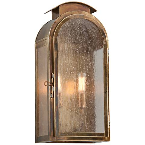 "Copley Square 17 3/4""H Historic Brass Outdoor Wall Light"