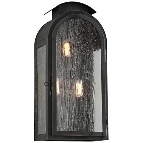 "Copley Square 20 3/4"" High Charred Iron Outdoor Wall Light"
