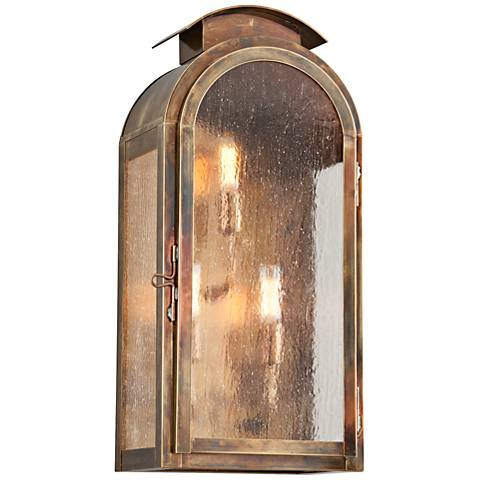 "Copley Square 20 3/4""H Historic Brass Outdoor Wall Light"