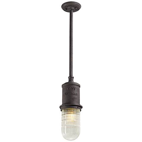 "Dock Street 14 3/4""H Centennial Rust Outdoor Hanging Light"