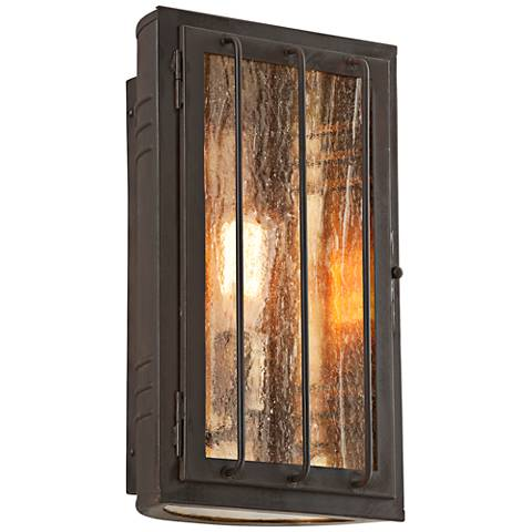 "Joplin 13 3/4"" High Charred Bronze Outdoor Wall Light"