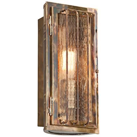 """Joplin 13 1/2"""" High Historic Brass Outdoor Wall Light"""