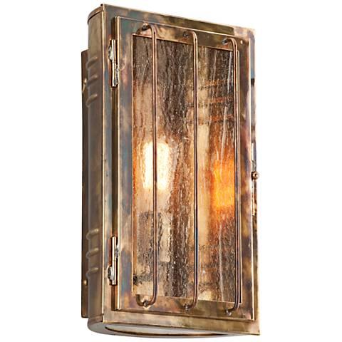 """Joplin 13 3/4"""" High Historic Brass Outdoor Wall Light"""