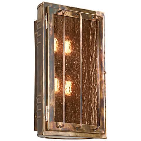 """Joplin 17"""" High Historic Brass Outdoor Wall Light"""