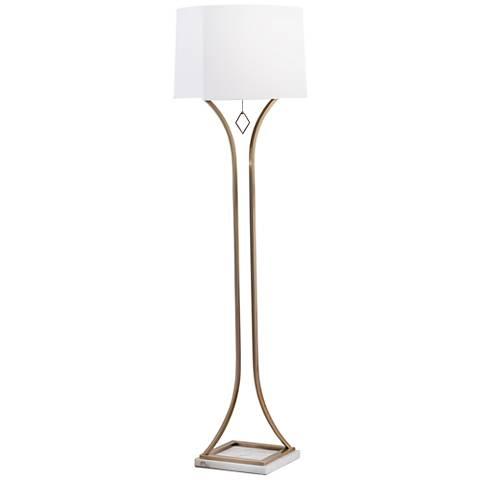 Nova Jubilee Weathered Brass Floor Lamp