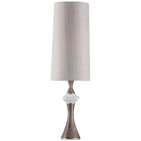 Nova Observation Walnut and White Gloss Accent Table Lamp