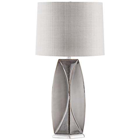 Nova Wings Weathered Charcoal Ceramic Table Lamp