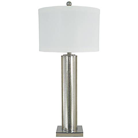 Thumprints Genesis Mercury Glass Table Lamp