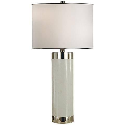 Thumprints Corinthian White Marble Table Lamp