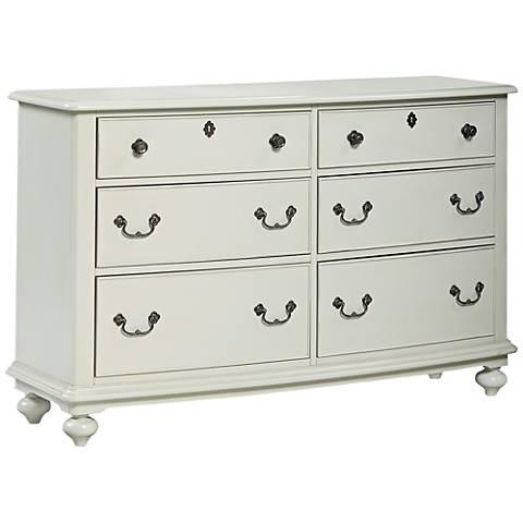 Inspirations Morning Mist Gray 6-Drawer Dresser