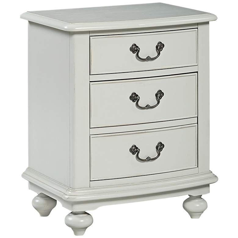 """Inspirations 23"""" Wide Morning Mist 2-Drawer Nightstand"""
