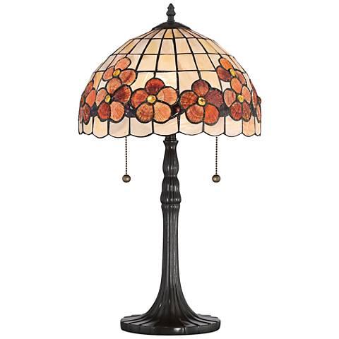 Quoizel Captiva Floral Shell Vintage Bronze Table Lamp
