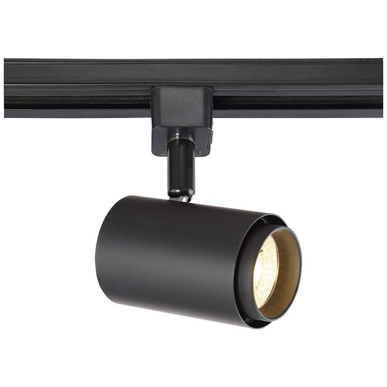 Black 10 Watt LED Cylinder Track Head for Juno Systems
