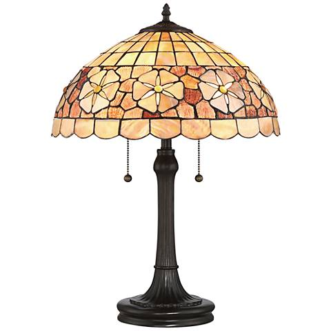 Quoizel Sanibel Sea Shell Vintage Bronze Table Lamp