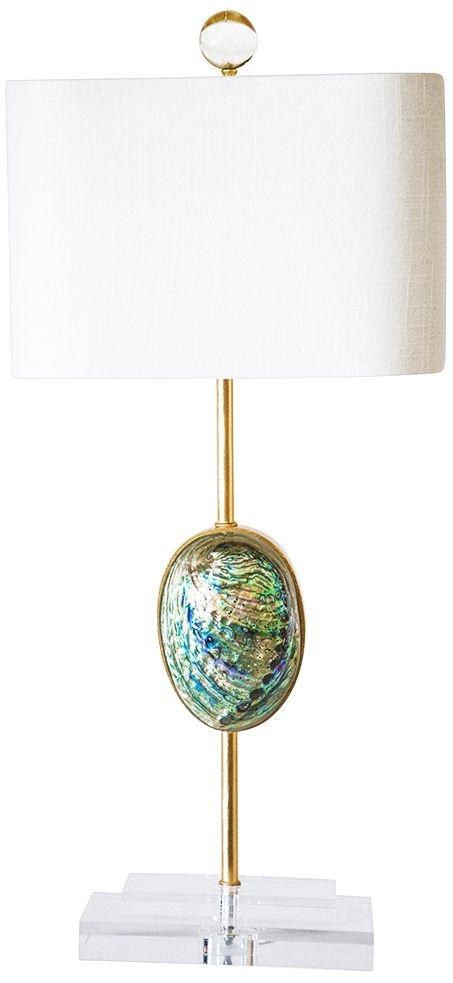 Superieur Couture Sausalito Iridescent Abalone Shell Table Lamp