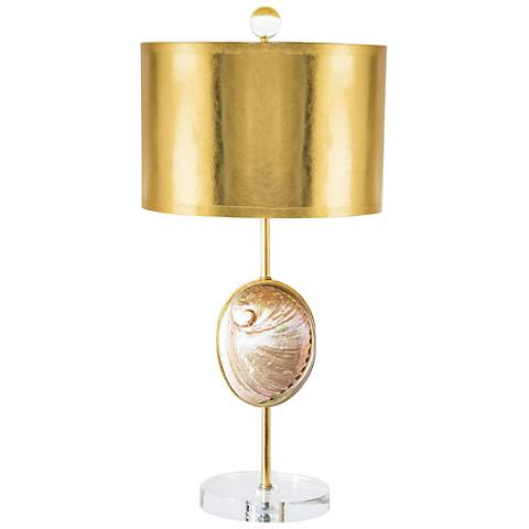 Couture Westport Natural Pink Abalone Shell Table Lamp