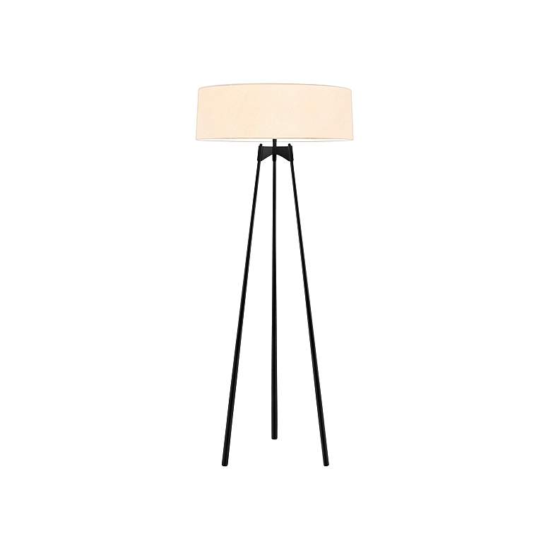 Sonneman Torii Satin Black Modern Tripod Floor Lamp