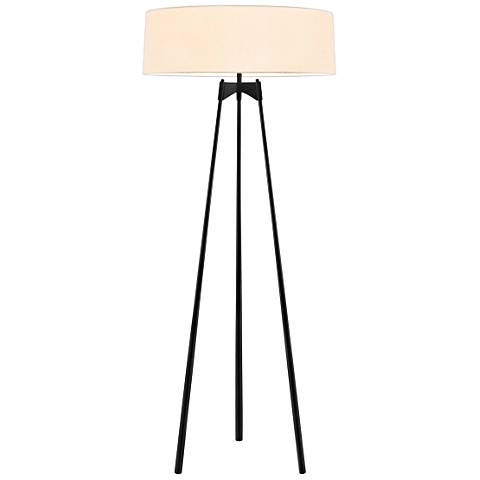 Sonneman Torii Satin Black Floor Lamp