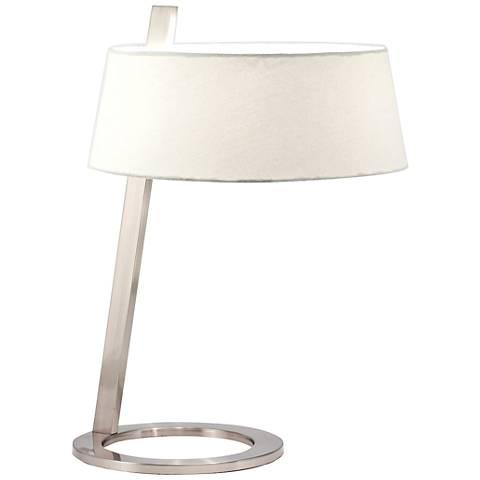 Sonneman Lina Satin Nickel Accent Table Lamp