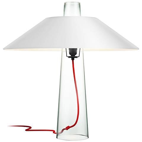 Sonneman Sky Clear Glass Table Lamp
