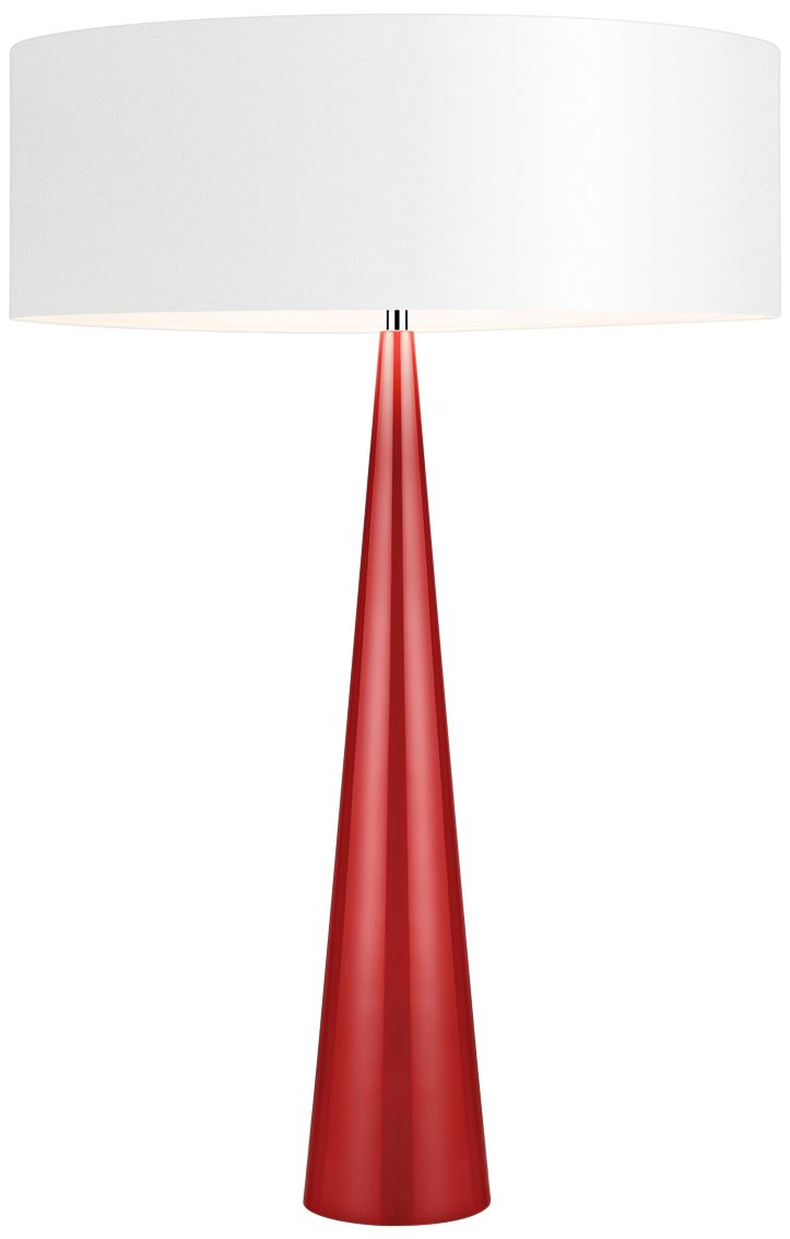 Superieur Big Table Cone Glossy Red Table Lamp With Paper Shade