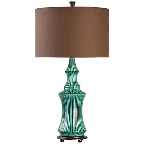 Uttermost Timavo Teal Ceramic Table Lamp