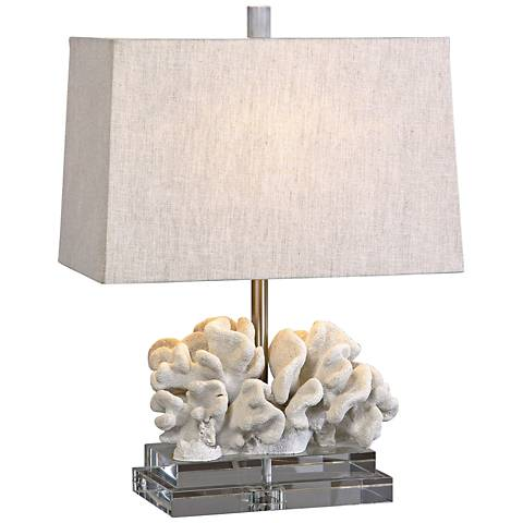 Uttermost taupe ivory coral table lamp 1m381 lamps plus uttermost taupe ivory coral table lamp mozeypictures Images