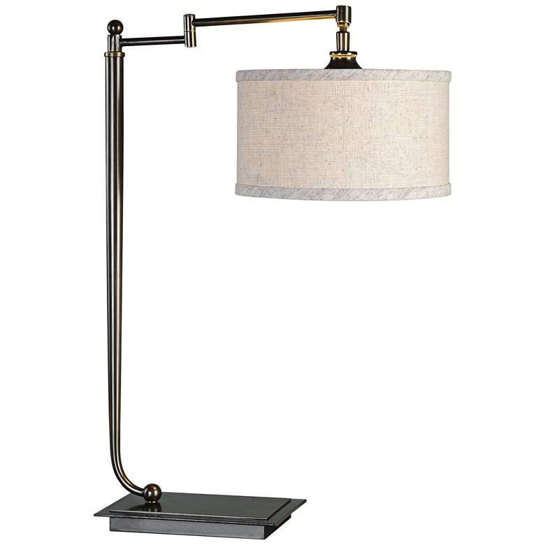 Uttermost Lamine Pivot Arm Iron Desk Lamp