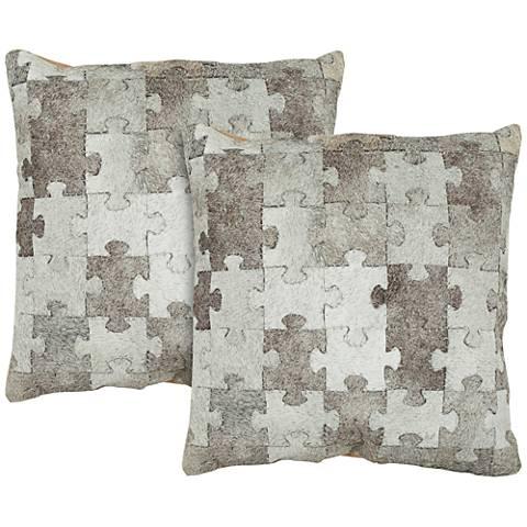 "Safavieh Mason 22"" Square Decorative Pillow Set of 2"