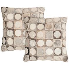 """Safavieh Brigitte 22"""" Square Decorative Pillow Set of 2"""