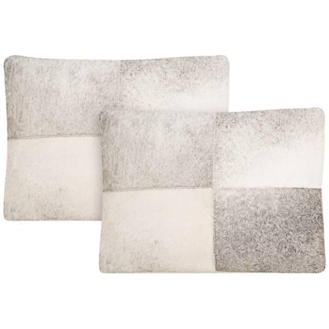 "Safavieh Levar 14"" x 20"" Gray Decorative Pillow Set of 2"