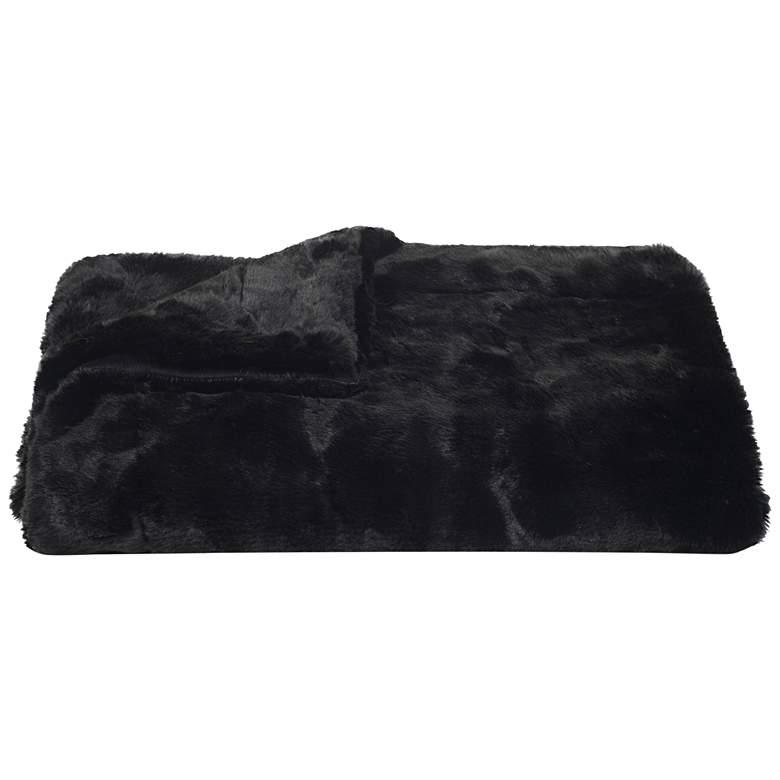 Safavieh Black Faux Mink Throw Blanket