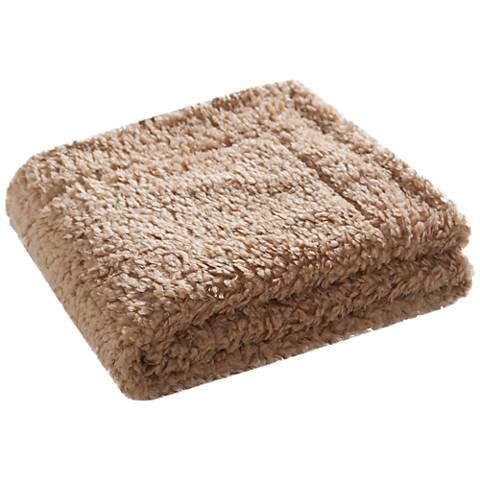Safavieh Latte Faux Poodle Throw Blanket