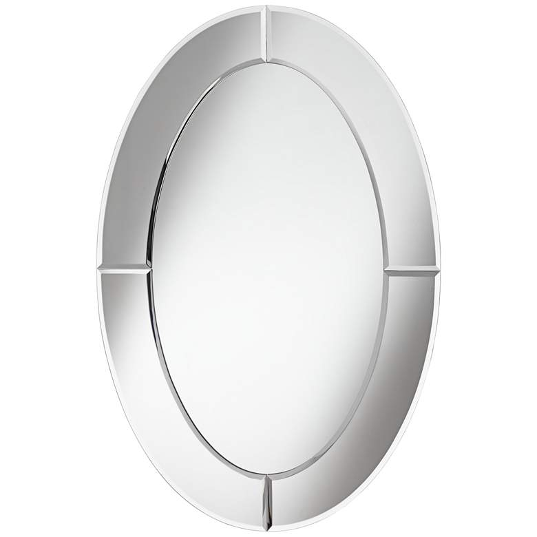 "Carlita Beveled 23 3/4"" x 36"" Oval Frameless Mirror"