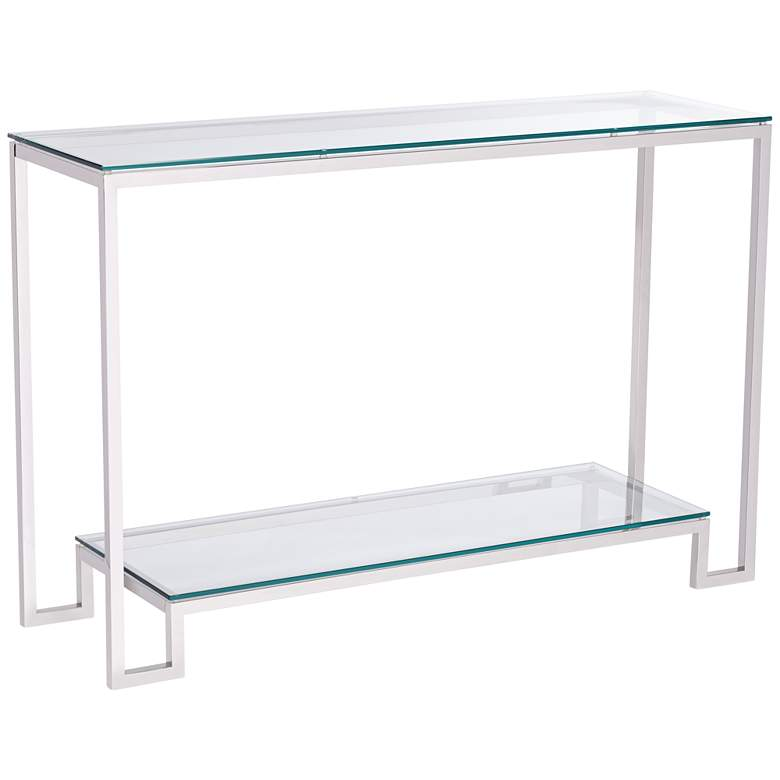 "Krista 47 1/2"" Wide Modern Glass Console Table"