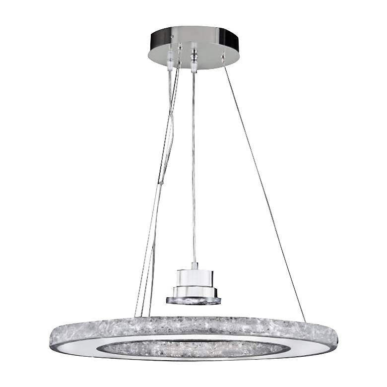 """Ice 24"""" Wide Natural Ice Crystal LED Pendant Chandelier"""