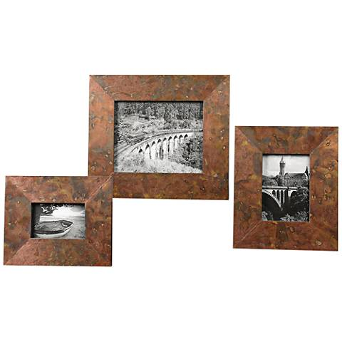 Uttermost Ambrosia 3-Piece Sheet Copper Photo Frame Set