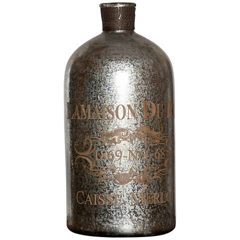 Uttermost Liaison Vintage Silver-Mercury Glass Bottle