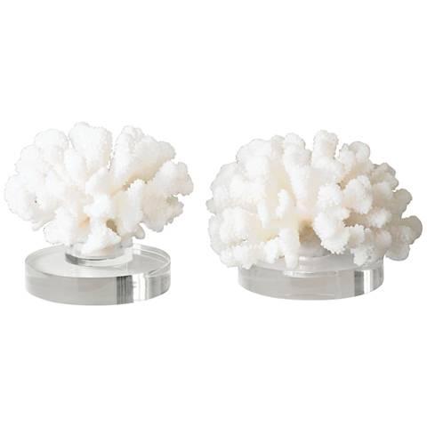 Uttermost Hard Cream Coral 2-Piece Accent Sculpture Set