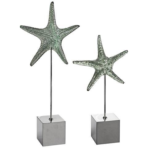 Uttermost Starfish 2-Piece Marine Green Sea Sculpture Set